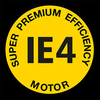 Logo van IE4 Super-Premium-Efficency-aandrijfmotor